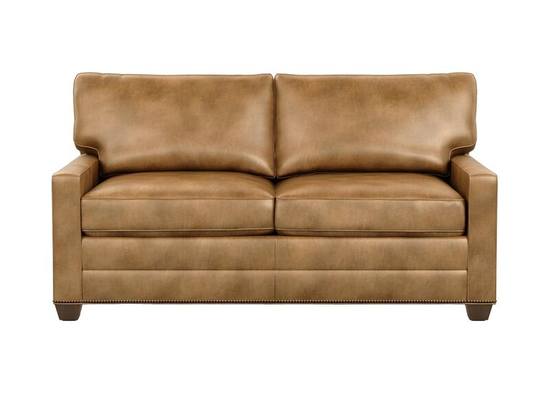 Leather Furniture Traveler Collection: Bennett Track-Arm Leather Two Seat Sofa