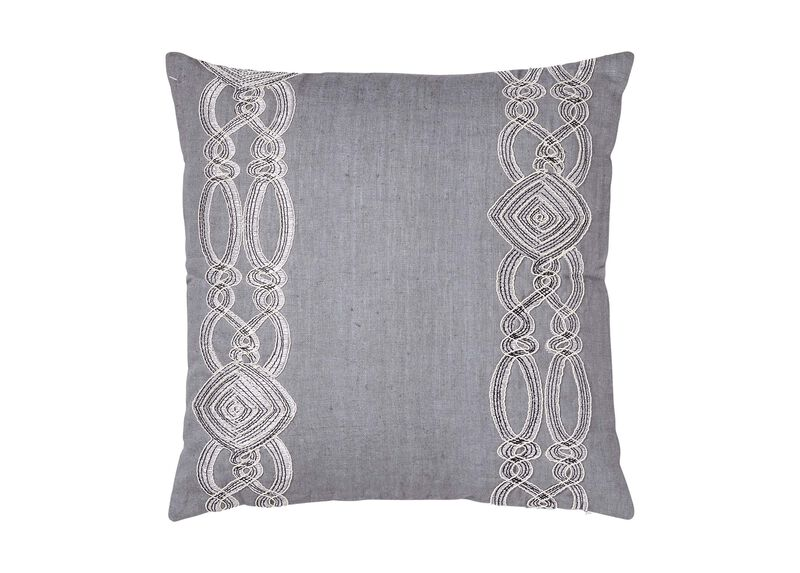 Embellished Square Pillow ,  , large_gray