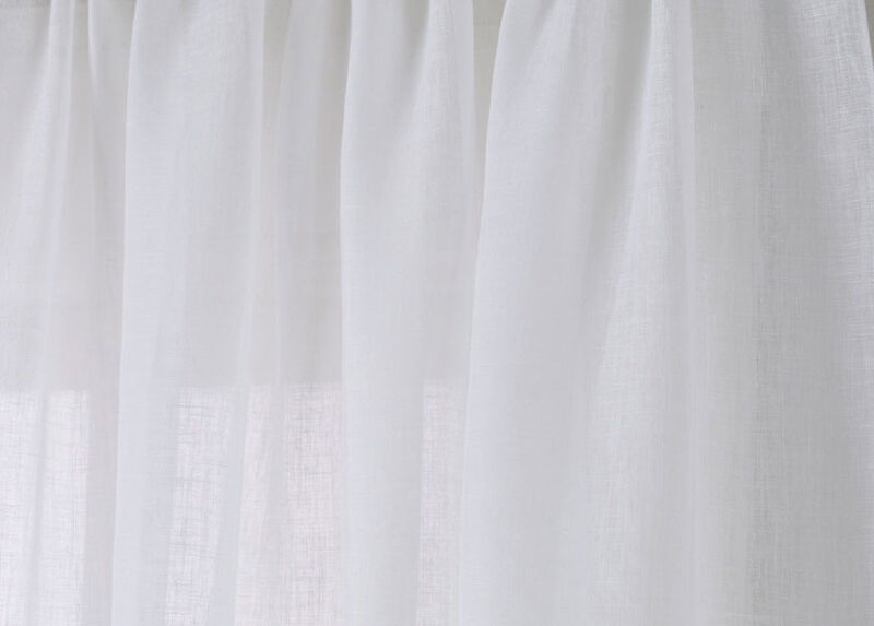 White Linen Sheer Fabric by the Yard ,  , large_gray