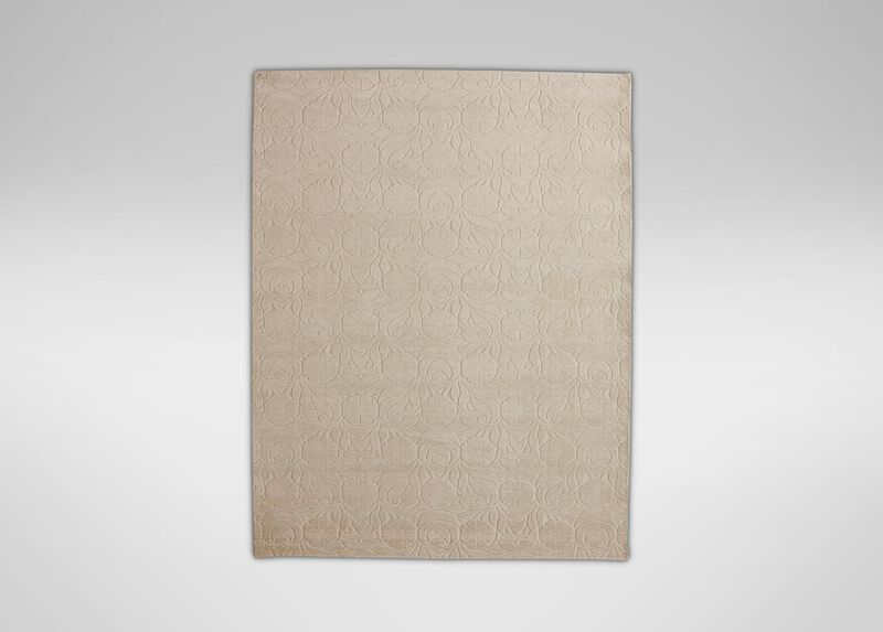 Floral Jacquard Rug, Ivory ,  , large_gray