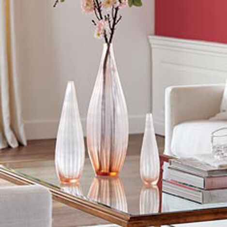 Peach Ribbed Vase Product Tile Hover Image 439848