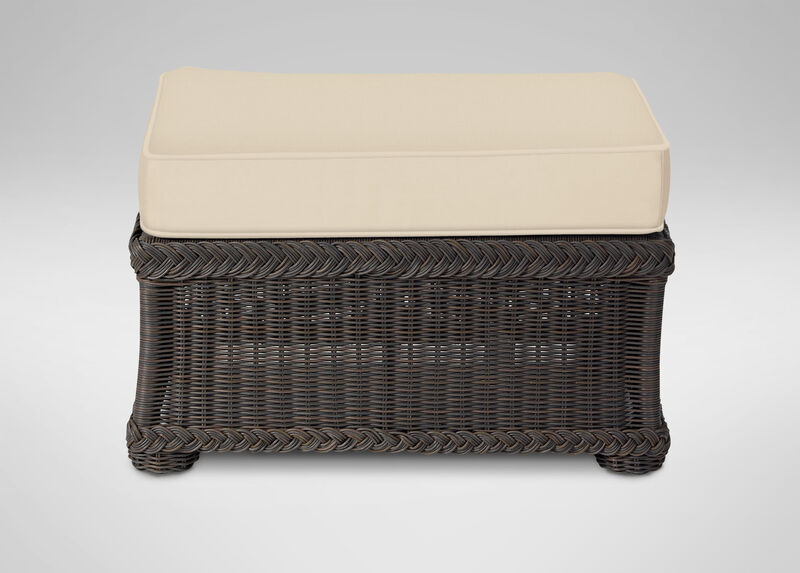 Lakehouse Ottoman , Hatcher Oatmeal (P4233) , large_gray