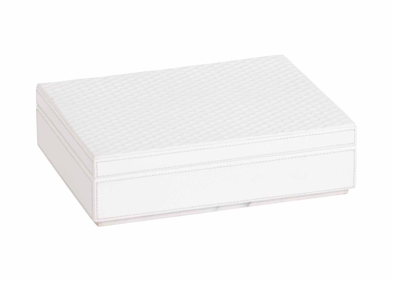 impressed leather box white boxes ethan allen. Black Bedroom Furniture Sets. Home Design Ideas