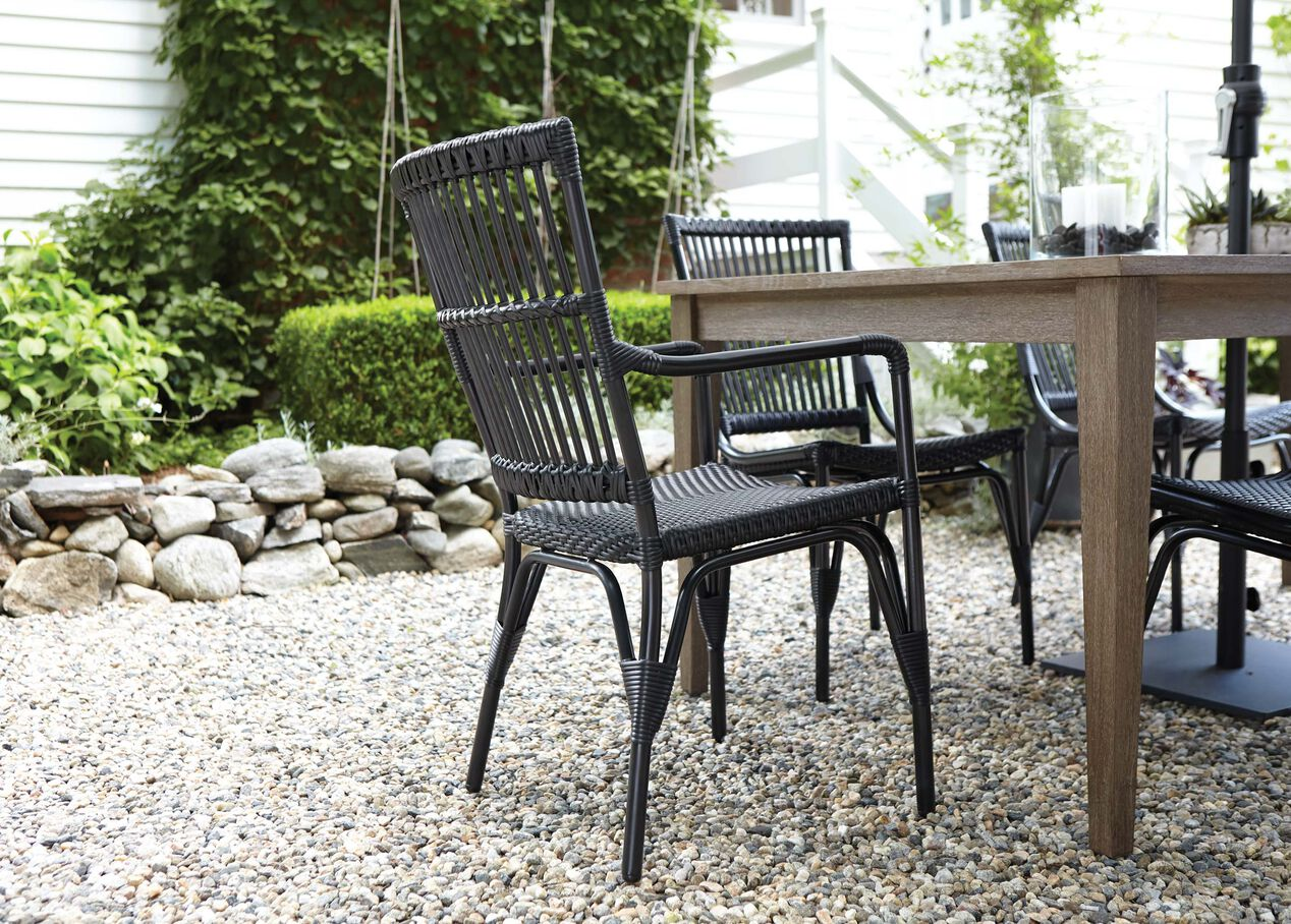 Vero dunes woven dining side chair 5