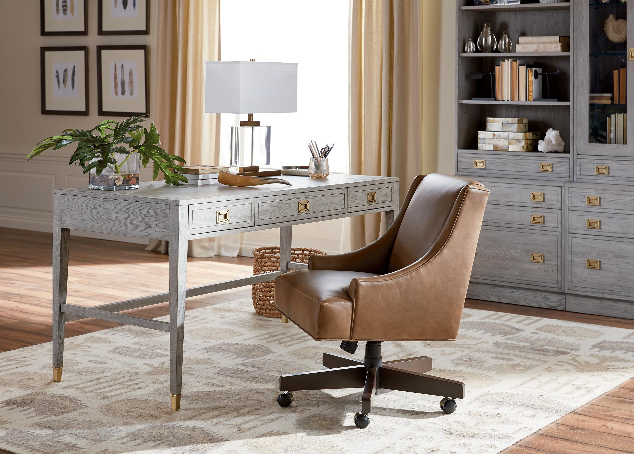 Harding Leather Task Chair_1 & Harding Leather Desk Chair | Desk Chairs | Ethan Allen