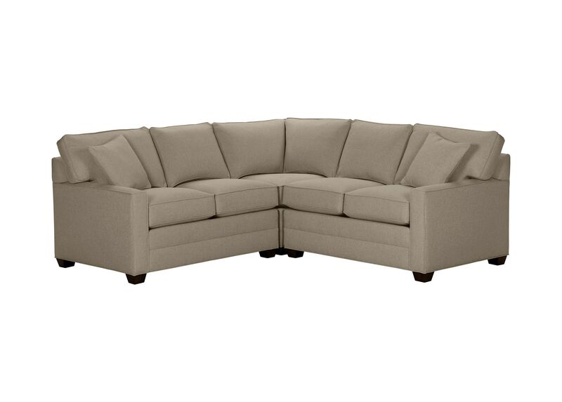 Bennett Track-Arm Three Piece Sectional, Quick Ship , Palmer Fog (Q3055), chenille , large_gray