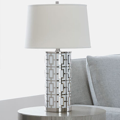Geo Symmetric Table Lamp Product Tile Hover Image 097186