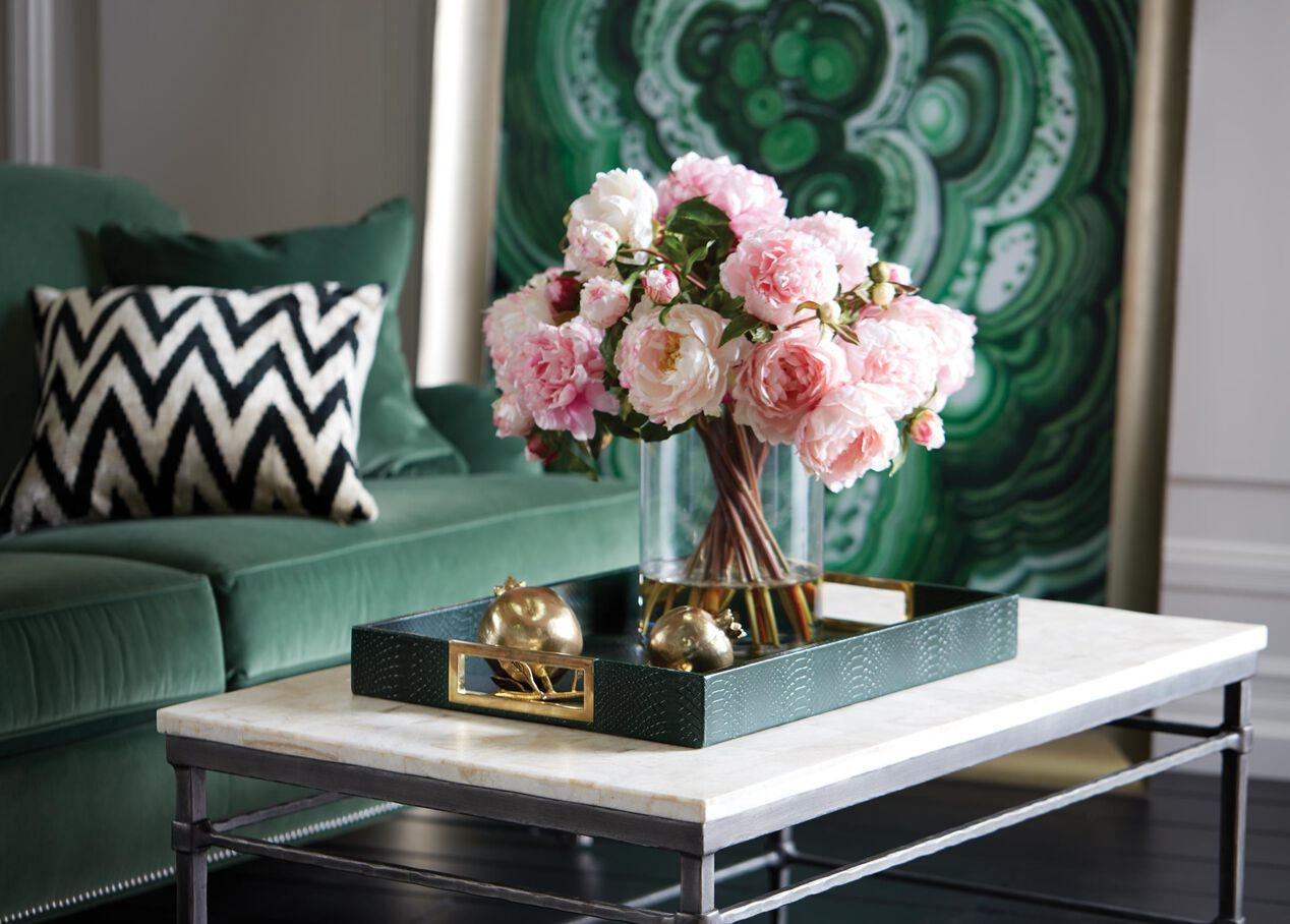 Tall Pink Peony Watergarden Florals Amp Trees Ethan Allen