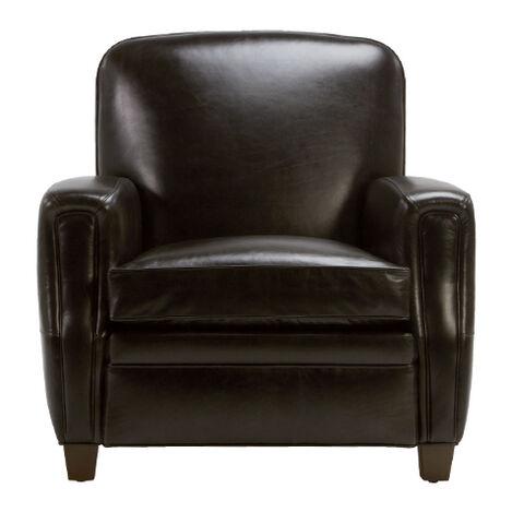 Dean Leather Chair, Anson Black ,  , large