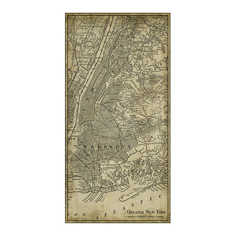 NYC Map I Vintage ,  , large