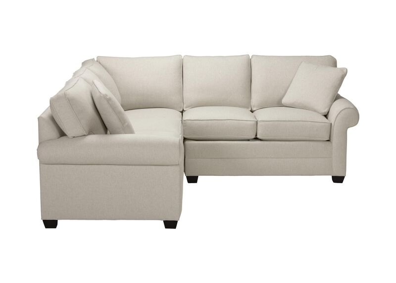 Bennett Three Piece Sectional, Quick Ship , Hailey Ivory (Q1032), solid texture , large_gray