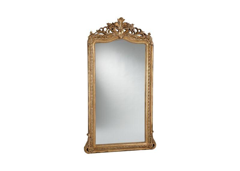 Aged Gold Luxe Floor Mirror