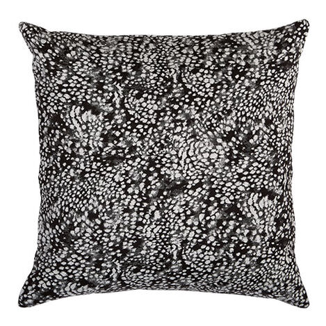 Leopard Pillow, Black/Ivory Product Tile Image 065656