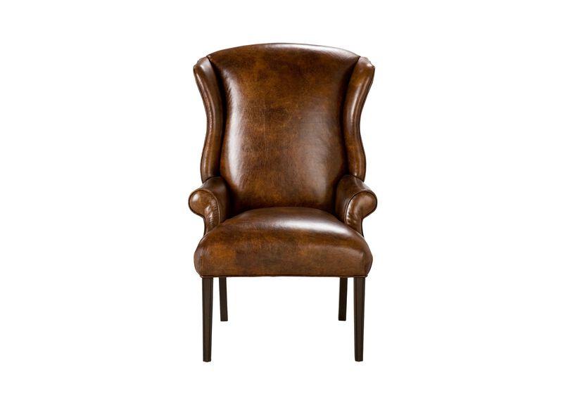 Jayden Leather Host Chair