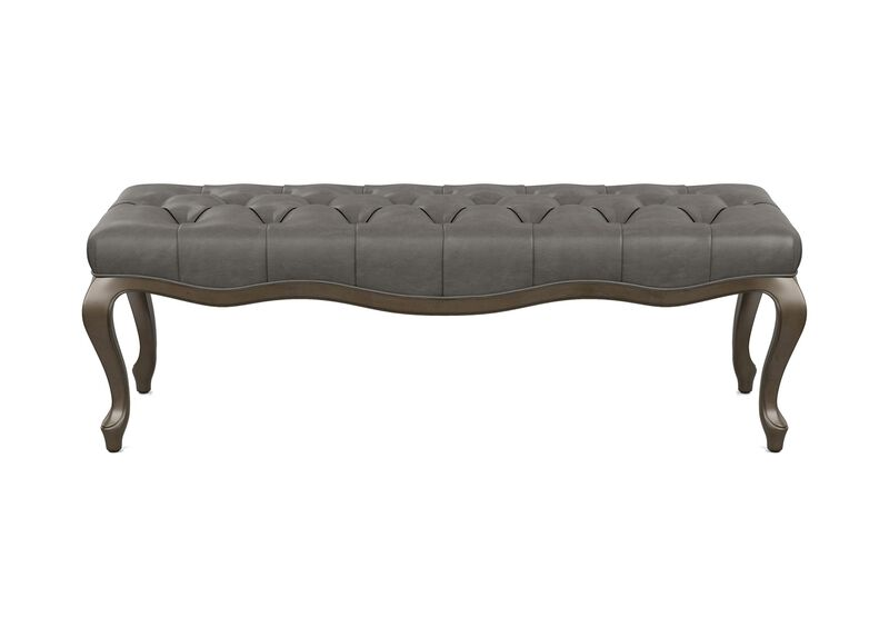 Louise Leather Bench ,  , large_gray