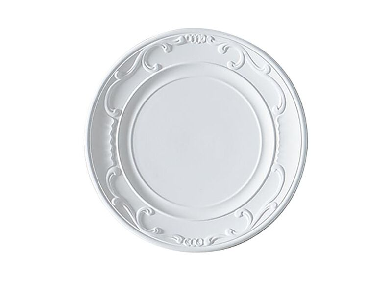 White Scrolled Wall Plate