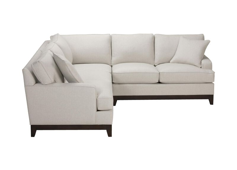 Arcata Three Piece Sectional, Quick Ship , Hailey Ivory (Q1032), solid texture , large_gray