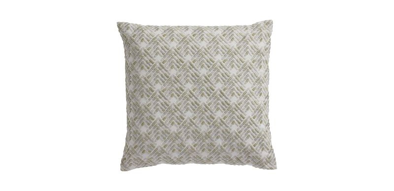 Embroidered Chevron Pillow