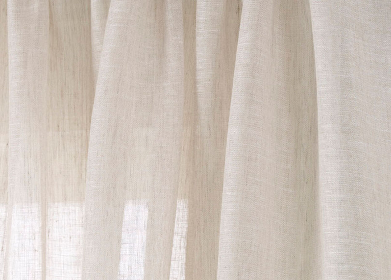 Ivory Linen Sheer Fabric By The Yard