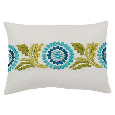 Embroidered Suzani Lumbar Pillow ,  , large
