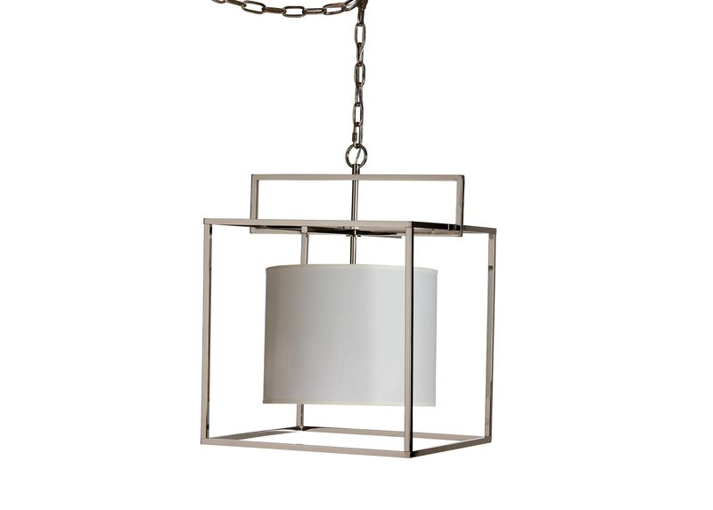 Modern Cage Nickel Chandelier ,  , large_gray