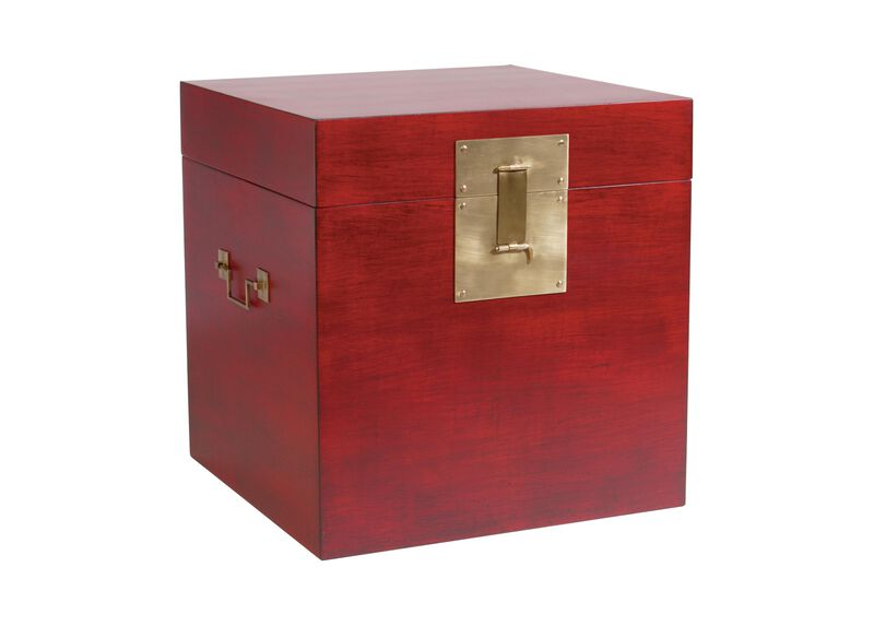 Red Canton Floor Cube