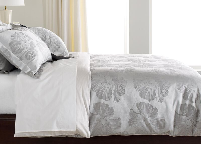 Susana Gray Floral Duvet Cover ,  , large_gray