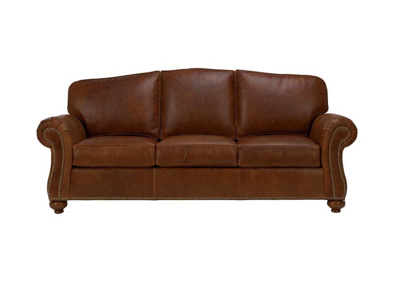 Whitney Leather Sofa ,  , large_gray