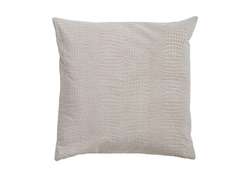 Embossed Velvet Pillow, Taupe