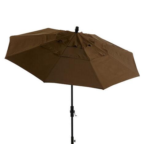 Cocoa Round Market Umbrella Product Tile Image 408050 CO716