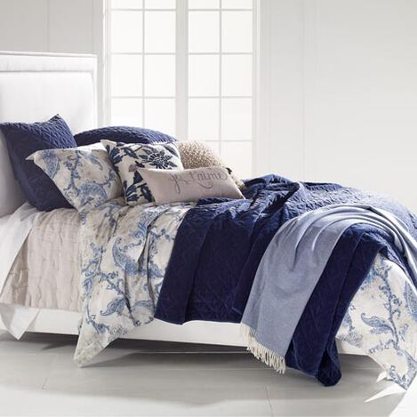 Delmore Duvet Cover Linen Pick Stitch Quilt And Gresham Coverlet Large