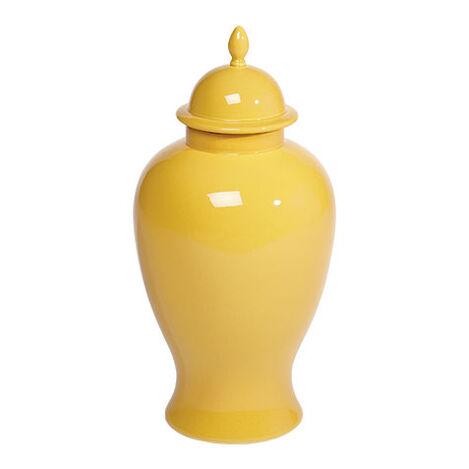 Large Mustard Temple Jar ,  , large