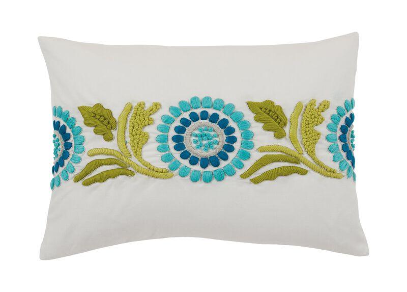 Embroidered Suzani Lumbar Pillow