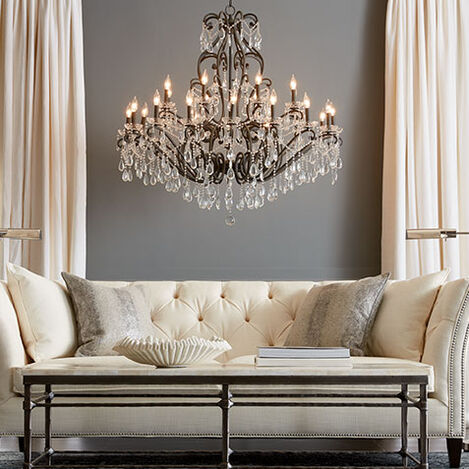 Whitney Slate Grand Chandelier Product Tile Hover Image 093644