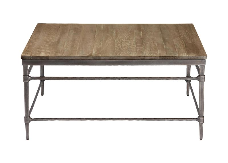 Vida Square Wood-Top Coffee Table