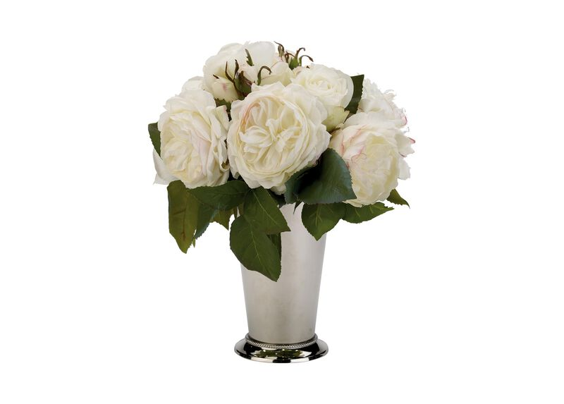 White Roses in Julep Cup ,  , large_gray