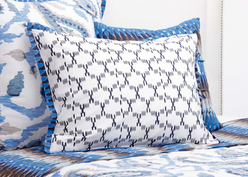 Priya Queen Sham with Ikat Flange ,  , large_gray
