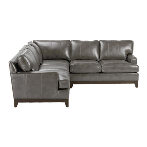 Arcata Three Piece Leather Sectional Quick Ship  sc 1 st  Ethan Allen : ethan allen sectionals - Sectionals, Sofas & Couches