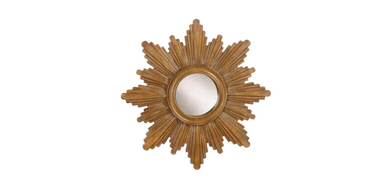 "26"" Gold Sunburst Mirror"