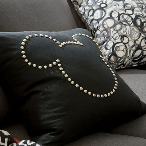 Mickey Mouse Nailhead Pillow Product Tile Hover Image 035622   MKE