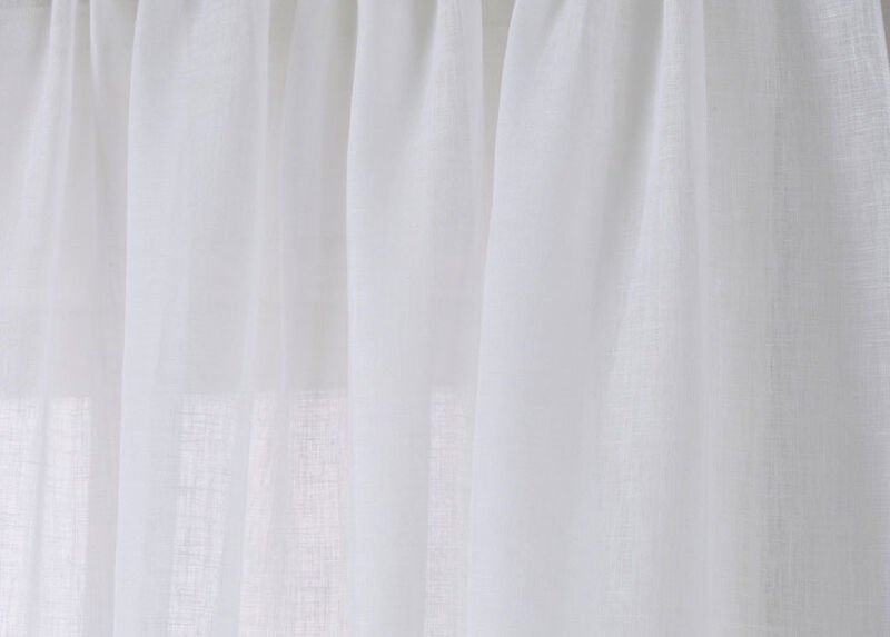 White Linen Sheer Fabric by the Yard