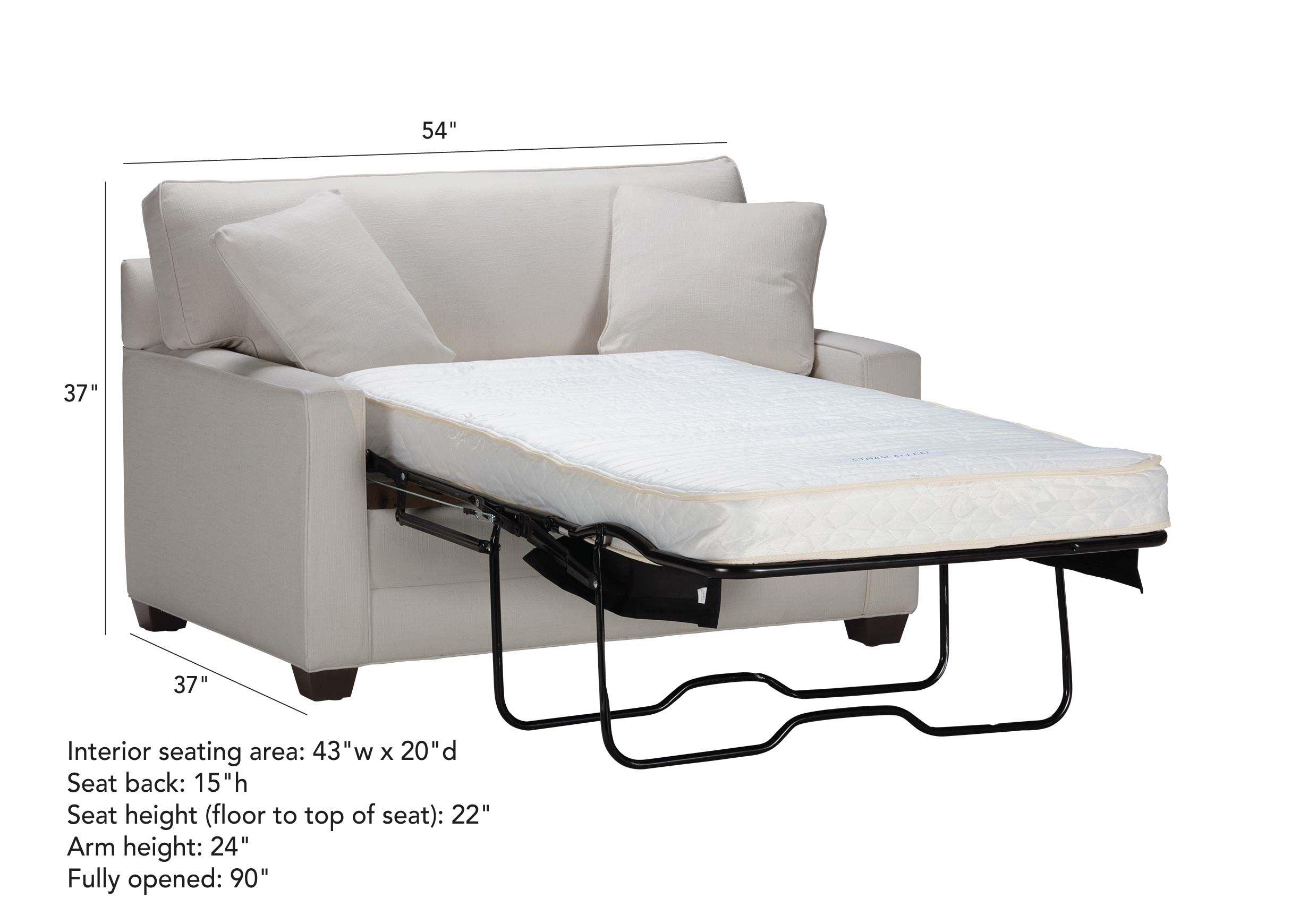 - Bennett Track-Arm Chair-and-a-Half Twin Sleeper Ethan Allen