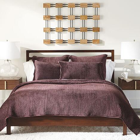 Velvet Beet Quilt and Shams Product Tile Image VelvetQuiltBeet