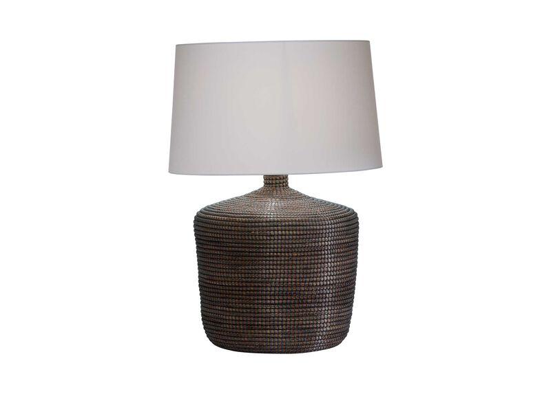 Seneca Woven Table Lamp, Gray