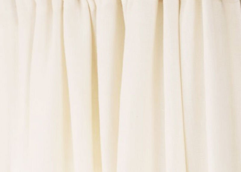 White Sayre Washed Linen Fabric by the Yard