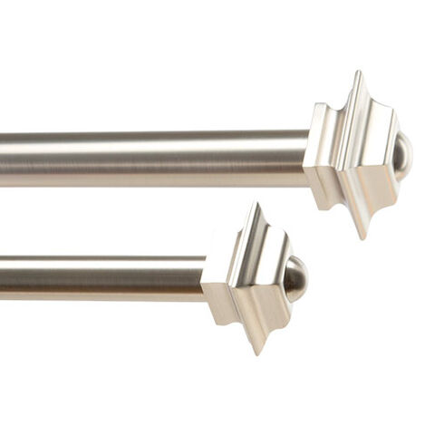 Square Finials and Drapery Hardware Set, Brushed Nickel Product Tile Image SquareBrushedNickel
