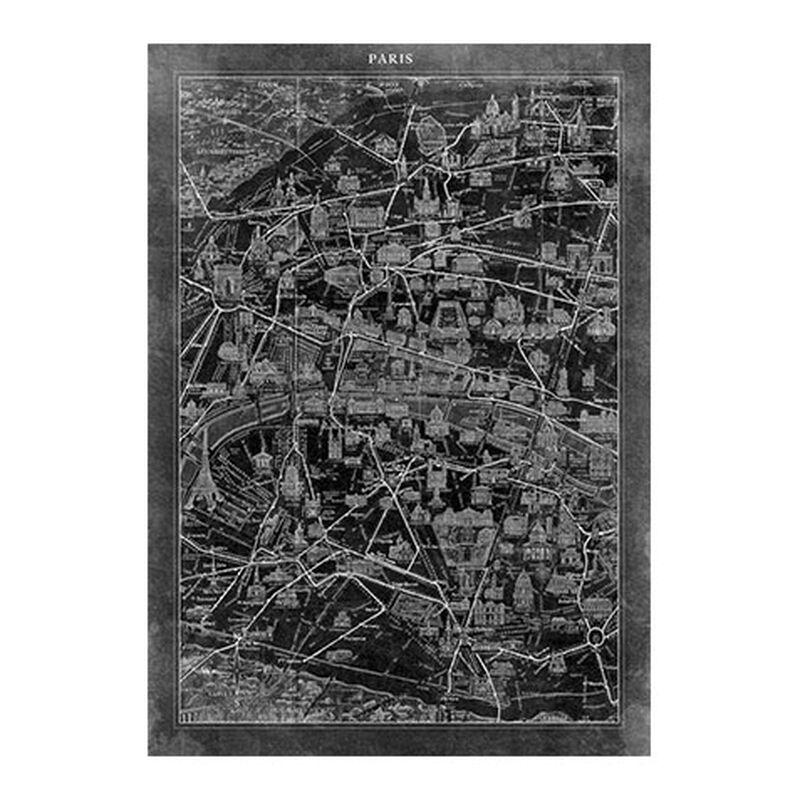Paris Map I Black
