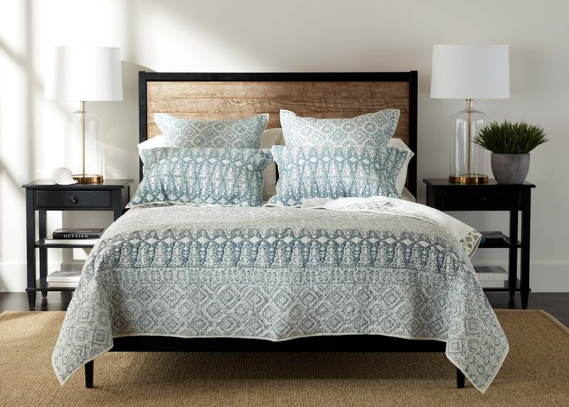 Syndi Block Print Quilt and Sham at Ethan Allen in Ormond Beach, FL | Tuggl