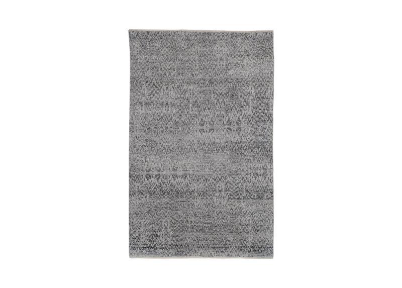 Ikat Rug, Gray/Ivory
