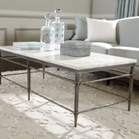 Shop Coffee Tables Living Room Tables Ethan Allen Ethan Allen - Rectangle white marble coffee table